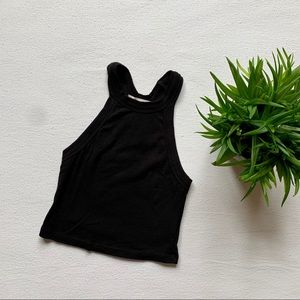 Truly Madly Deeply Black Cropped Tank Top
